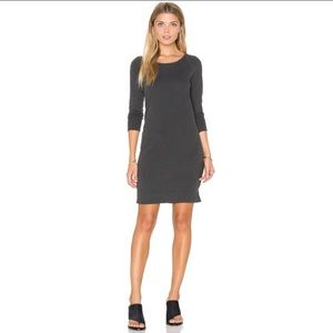 Standard James Perse Gray Raglan Sweatshirt Dress